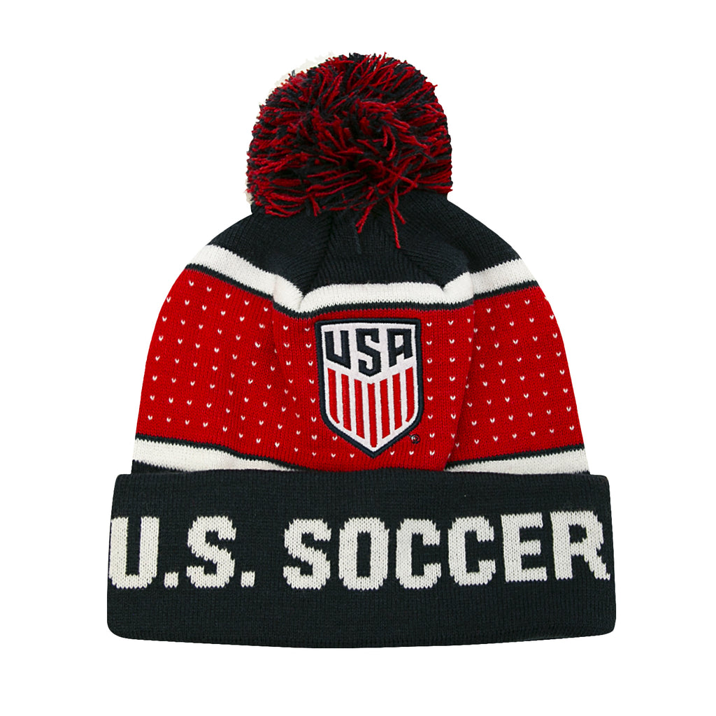 U.S. Soccer Dotted Pom Beanie by Icon Sports