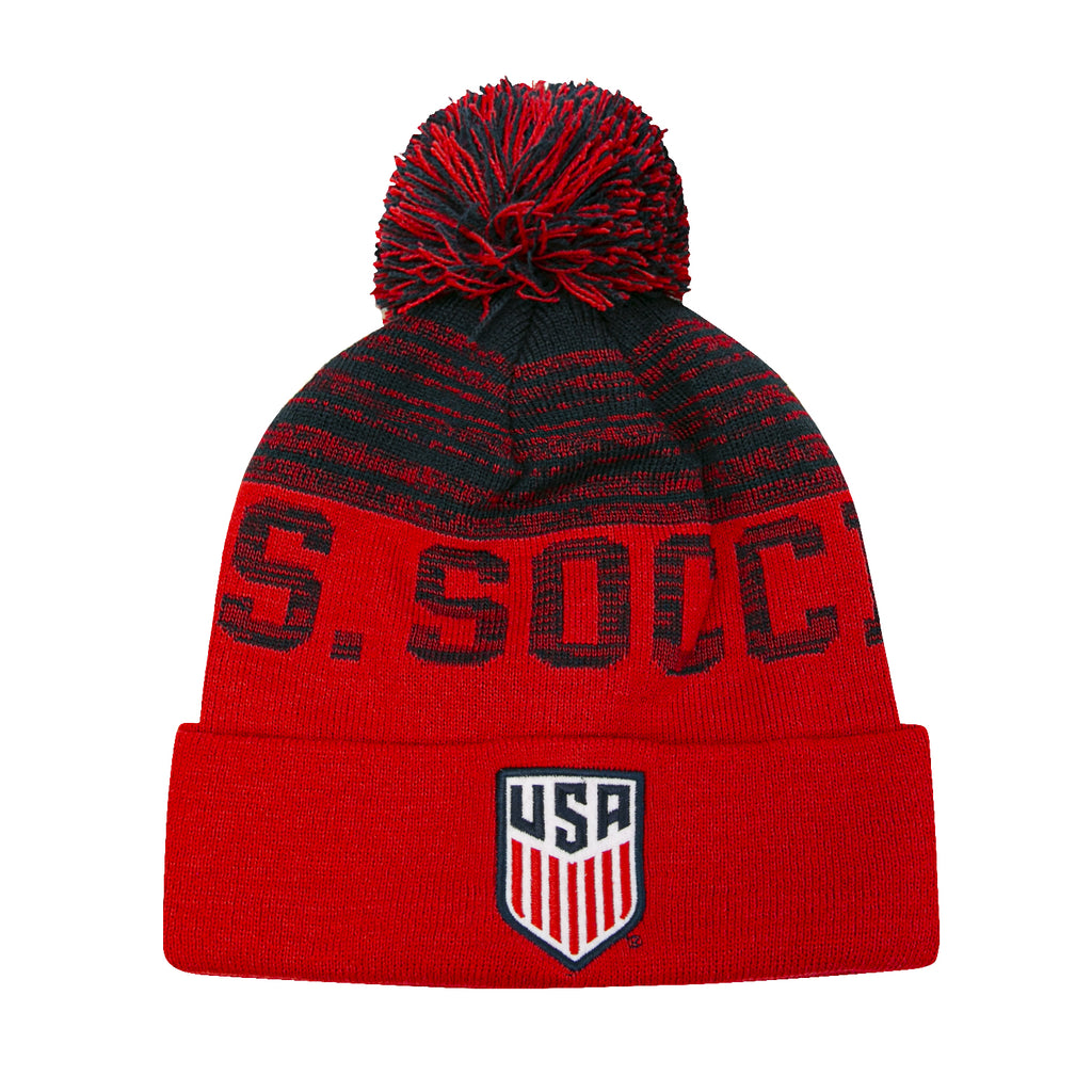 U.S. Soccer Youth Distressed Pom Beanie by Icon Sports