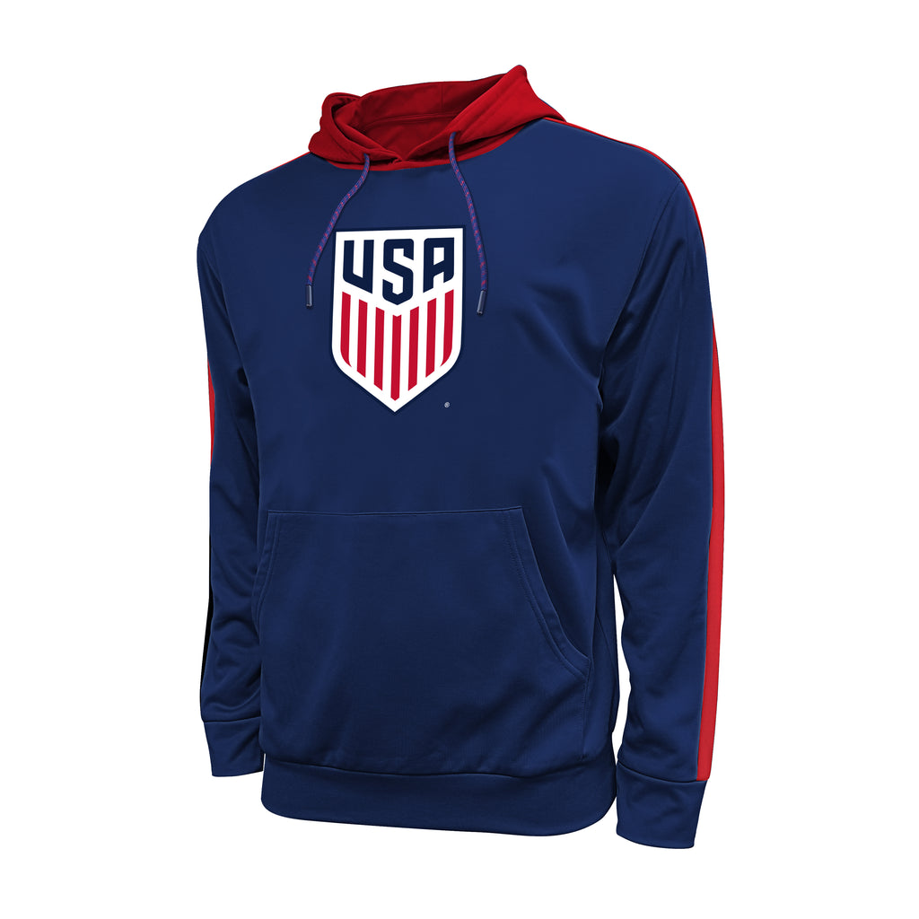 U.S. Soccer Side Step Pullover Hoodie - Navy by Icon Sports