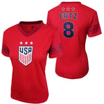 U.S. Soccer Julie Ertz Women's Polymesh Football Tee by Icon Sports