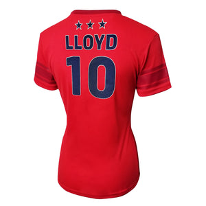 U.S. Soccer Carli Lloyd Women's Polymesh Football Tee by Icon Sports