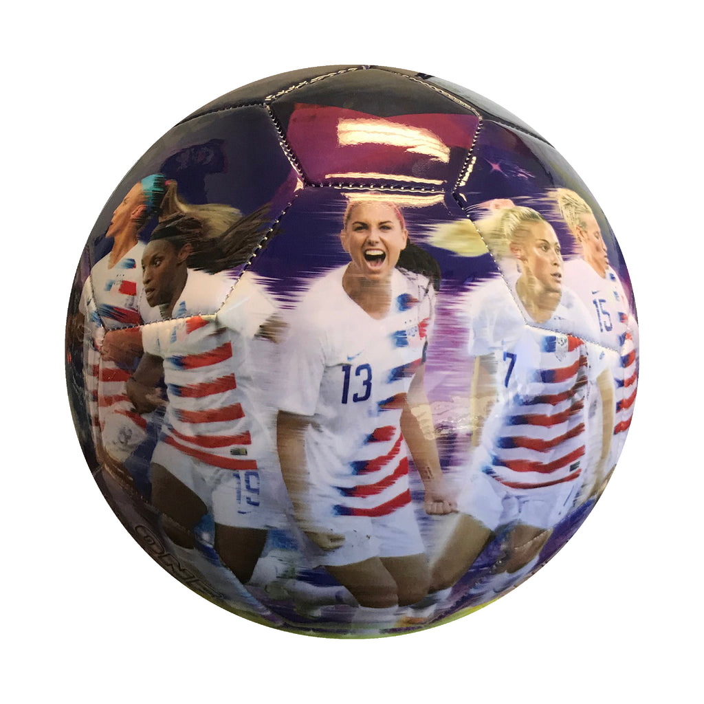 USWNT Size 5 Graphic players Soccer Ball - Purple