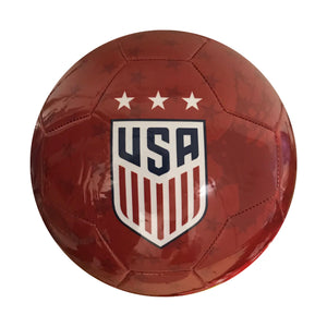 USWNT Size 5 Graphic Players Soccer Ball - Red