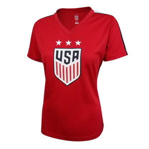 U.S. Soccer Alex Morgan Women's Polymesh Stadium Tee by Icon Sports