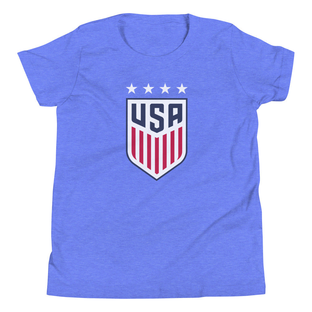 Tobin Heath Youth USWNT 4 Star T-Shirt by Icon Sports