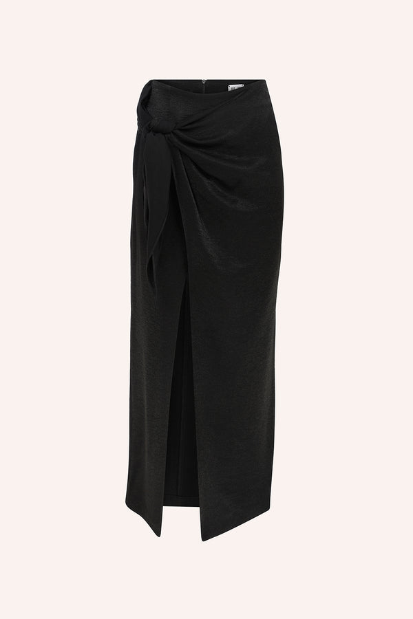Amanda - Wrap up skirt in black