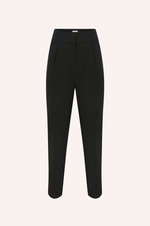 Laia - Pleated trousers in black