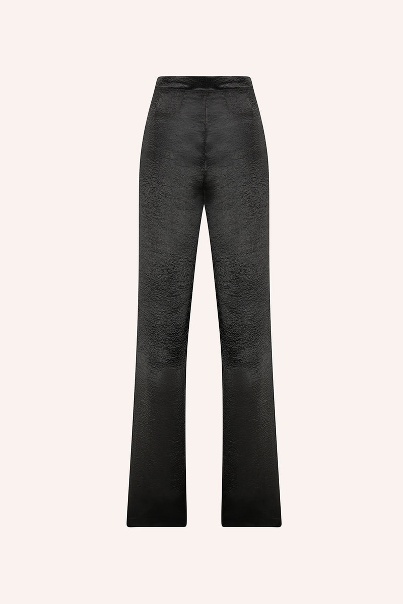 Cala - Double pleated trousers in black