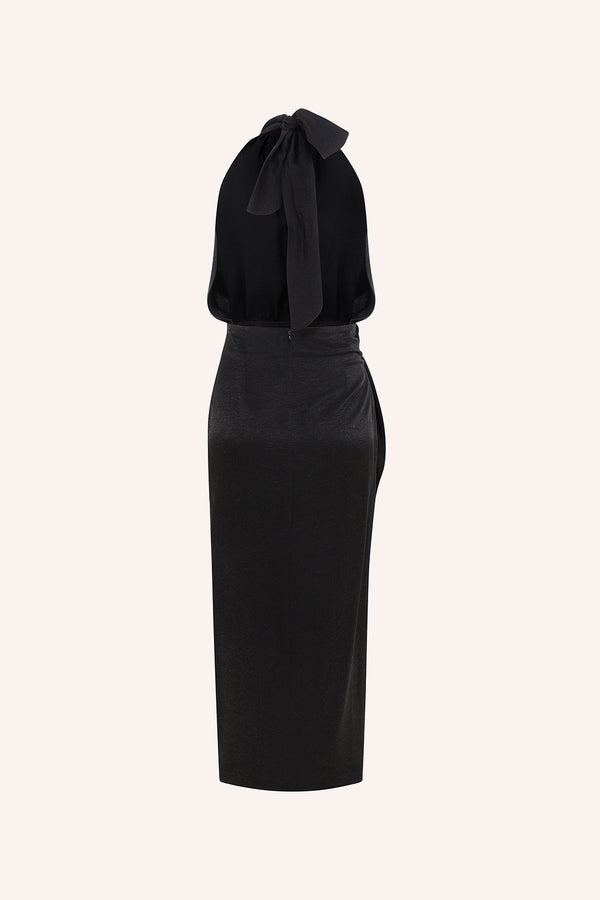 Amanda -Wrap up dress with open back