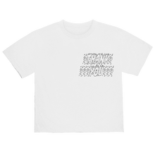 "Load image into Gallery viewer, ""NOT ALONE"" T-SHIRT - WHITE/REFLECTIVE"