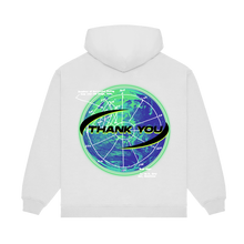 "Load image into Gallery viewer, ""NOT ALONE II"" HOODIE - WHITE/GLOW"