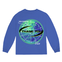 "Load image into Gallery viewer, ""NOT ALONE"" LONGSLEEVE T-SHIRT - BLUE/GLOW/REFLECTIVE"