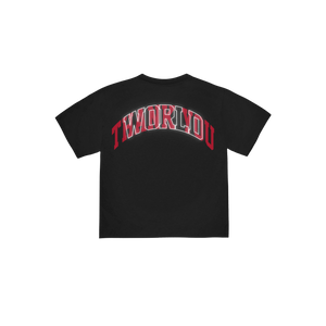 """ARCH"" T-SHIRT - BLACK/SALSA RED"