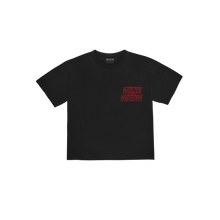 "Load image into Gallery viewer, ""ARCH"" T-SHIRT - BLACK/SALSA RED"