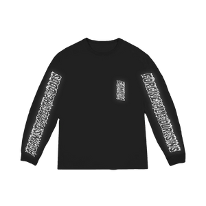 """FAMILIA"" LONG-SLEEVE TEE SHIRT - BLACK/3M"