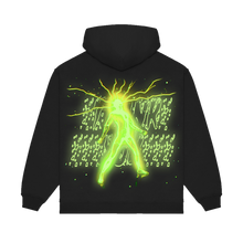 "Load image into Gallery viewer, ""LIGHT"" HOODIE - BLACK/GLOW/REFLECTIVE"