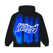 "Load image into Gallery viewer, ""PROGRAM"" HOODIE - BLACK/NEO BLUE/REFLECTIVE"