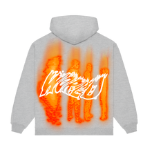 "Load image into Gallery viewer, ""PROGRAM"" HOODIE - HEATHER GREY/ORANGE/REFLECTIVE"