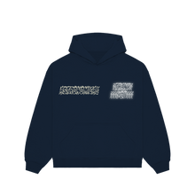 "Load image into Gallery viewer, ""TRUTH"" HOODIE - NAVY/OFF WHITE/REFLECTIVE"