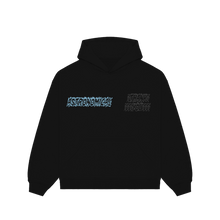 "Load image into Gallery viewer, ""TRUTH"" HOODIE - BLACK/BABY BLUE/REFLECTIVE"