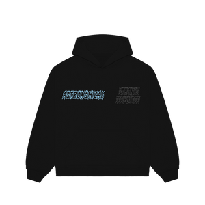 """TRUTH"" HOODIE - BLACK/BABY BLUE/REFLECTIVE"