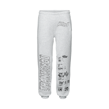 "Load image into Gallery viewer, ""PROGRAM"" SWEATPANTS - LIGHT HEATHER/REFLECTIVE"