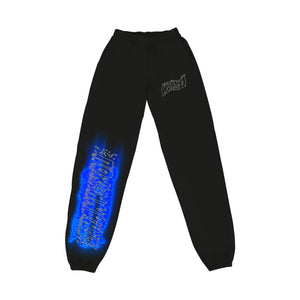 """PROGRAM"" SWEATPANTS - BLACK/NEO BLUE/REFLECTIVE"