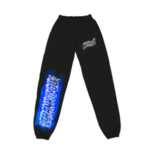 "Load image into Gallery viewer, ""PROGRAM"" SWEATPANTS - BLACK/NEO BLUE/REFLECTIVE"