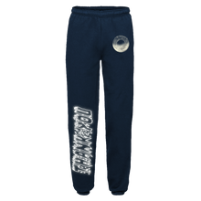 "Load image into Gallery viewer, ""TRUTH"" SWEATPANTS - NAVY/REFLECTIVE"