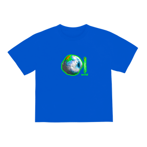 """EARTH DAY"" T-SHIRT - BLUE"