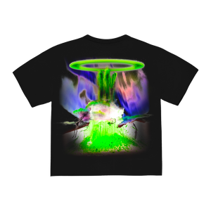 """ACIDVERSE"" T-SHIRT - BLACK/GLOW"