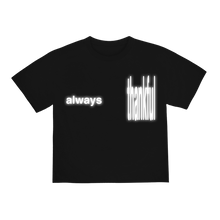 "Load image into Gallery viewer, ""ALWAYS"" T-SHIRT - BLACK/REFLECTIVE"