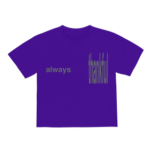 """ALWAYS"" T-SHIRT - PURPLE/REFLECTIVE"
