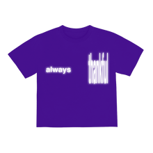 "Load image into Gallery viewer, ""ALWAYS"" T-SHIRT - PURPLE/REFLECTIVE"
