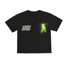 "Load image into Gallery viewer, ""LIGHT"" T-SHIRT - BLACK/GLOW/REFLECTIVE"
