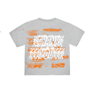 """PROGRAM"" T-SHIRT - HEATHER/ORANGE/REFLECTIVE"