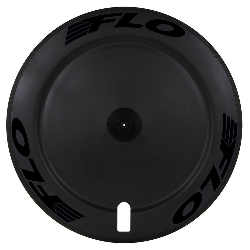 FLO DISC Aluminum + Carbon - Blemished - Stealth Black Stickers