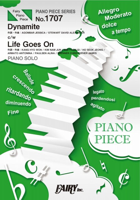 PP1477 Piano Piece Dynamite C / W Life Goes On / BTS ( Bangtan Boys )