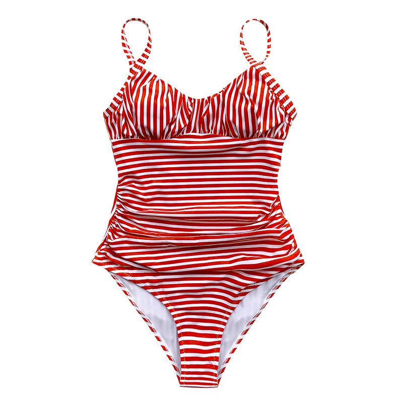 Maillot 1 pièce Rouge & Blanc