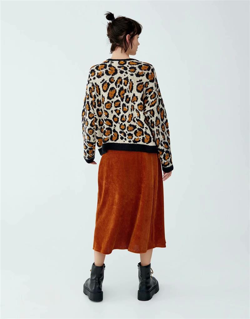 Pull Mohair Animal Print