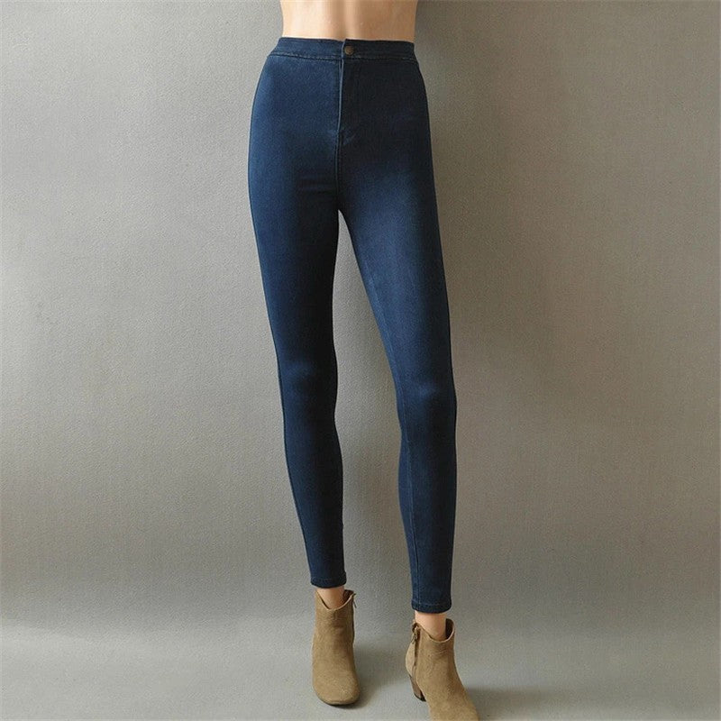 Jeans stretch taille haute