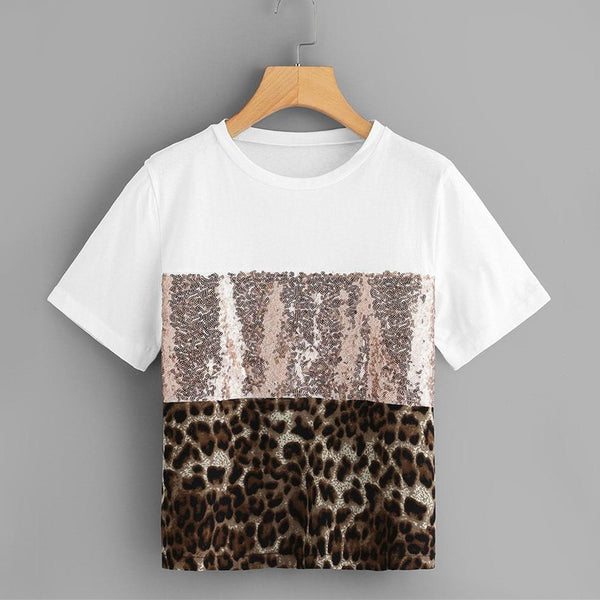 T-Shirt Sequins Léo
