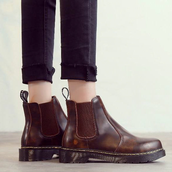 Bottines Cuir Vegan