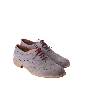 Brogue Suede - Ash