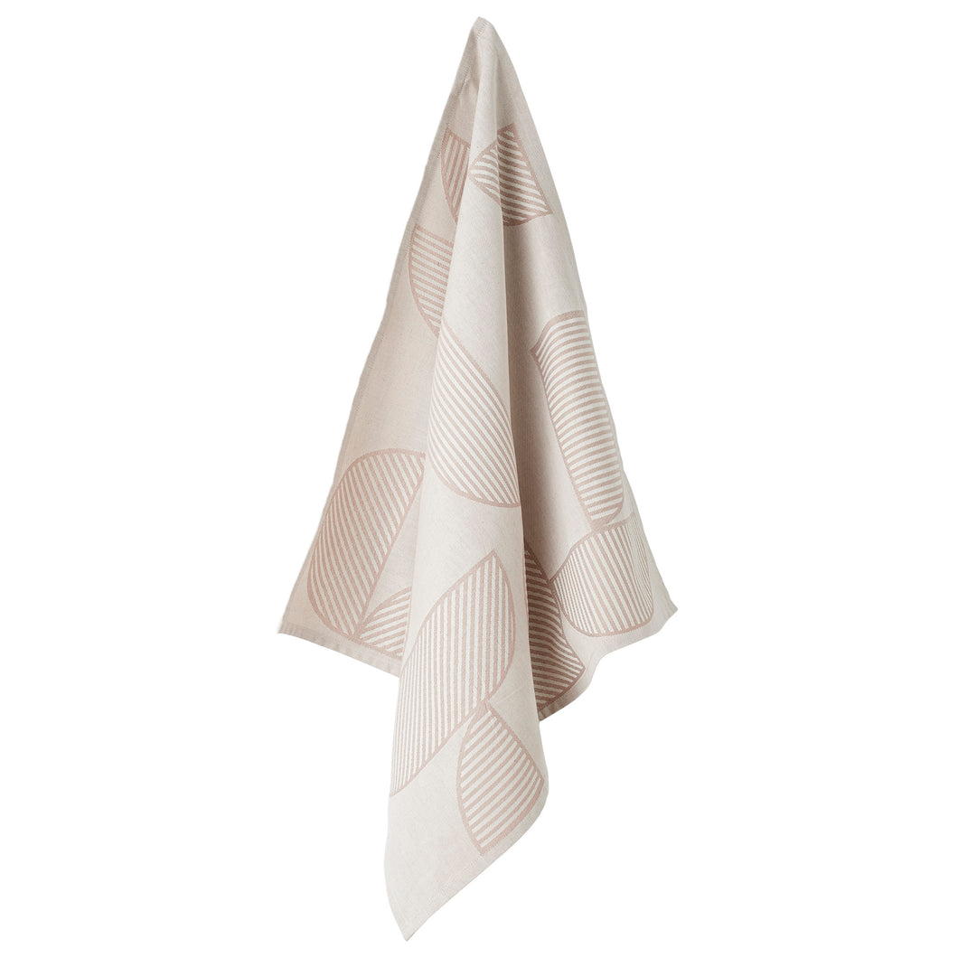 AYTM Figura Tea Towel in Rose/Light Grey