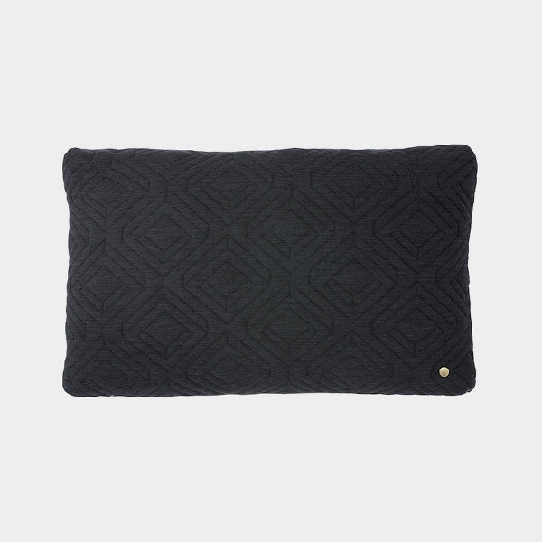 Ferm Living Quilt Cushion in Black - Large