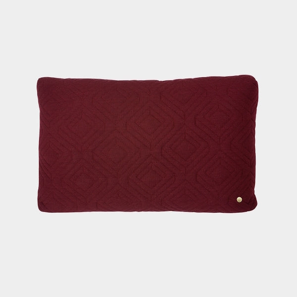 Ferm Living Quilt Cushion in Bordeaux - Large
