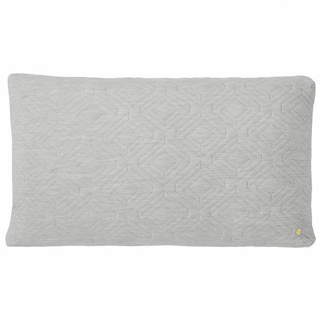 Ferm Living Quilt Cushion in Grey - Large