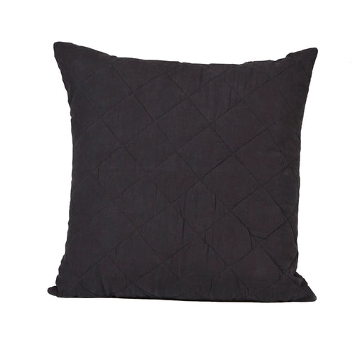 Diamond Quilted Pillow in Ink