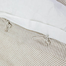 Load image into Gallery viewer, Everything Bed Linen Set - Arctic White + Desert Stripe